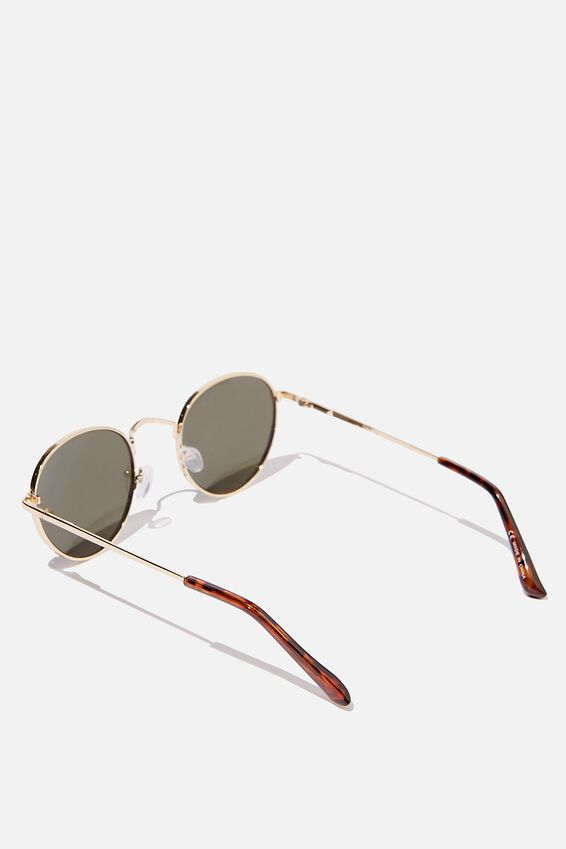 Bellbrae Sunglasses, GOLD TORT GREEN