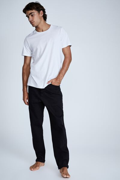 Relaxed Tapered Jean, NEW BLACK