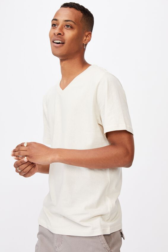 Essential Vee Neck T-Shirt, BONE