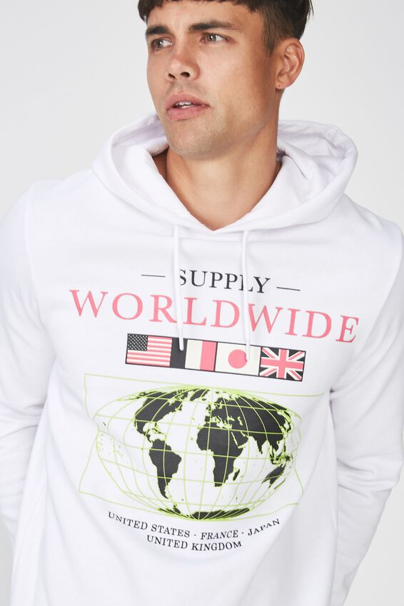 Fleece Pullover 2, WHITE/WORLDWIDE SUPPLY