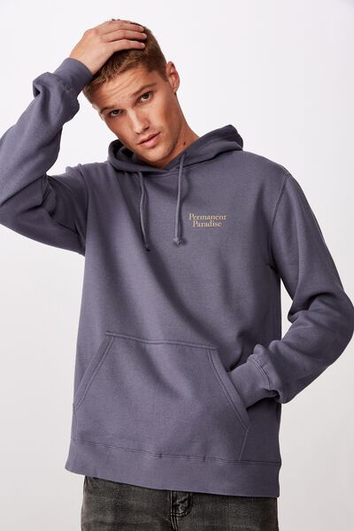 Fleece Pullover 2, DUSTY DENIM/PERMANENT PARADISE