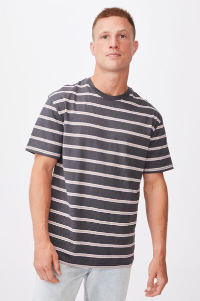 Dylan T-Shirt, FADED SLATE POP STRIPE