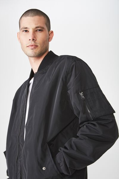 Airforce Bomber Jacket, BLACK