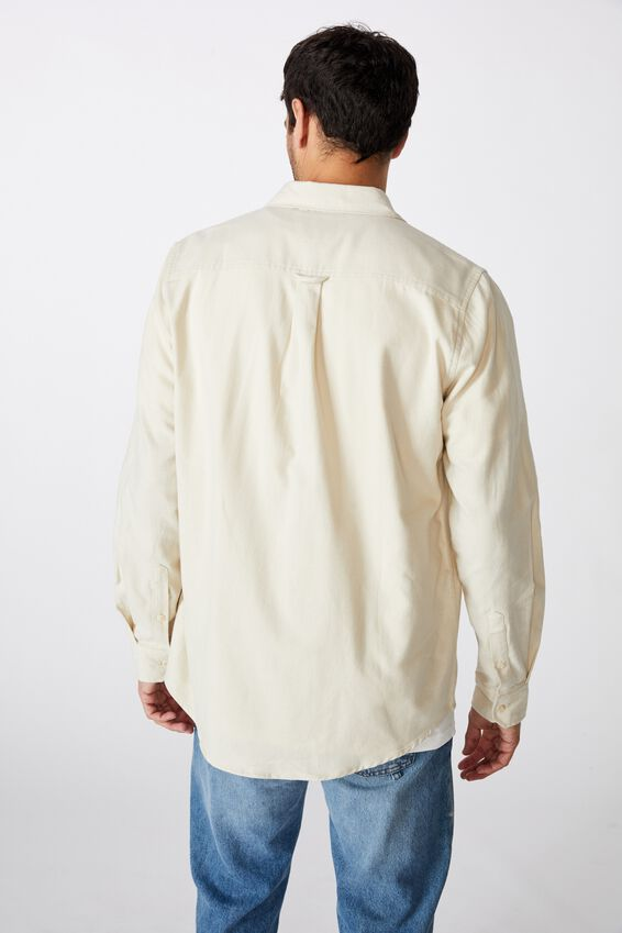 Rugged Long Sleeve Shirt, ECRU