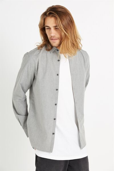 Slim Smart Shirt, GREY MARLE