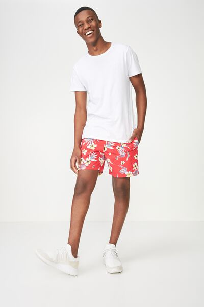 Hoff Short, RED RESORT FLORAL