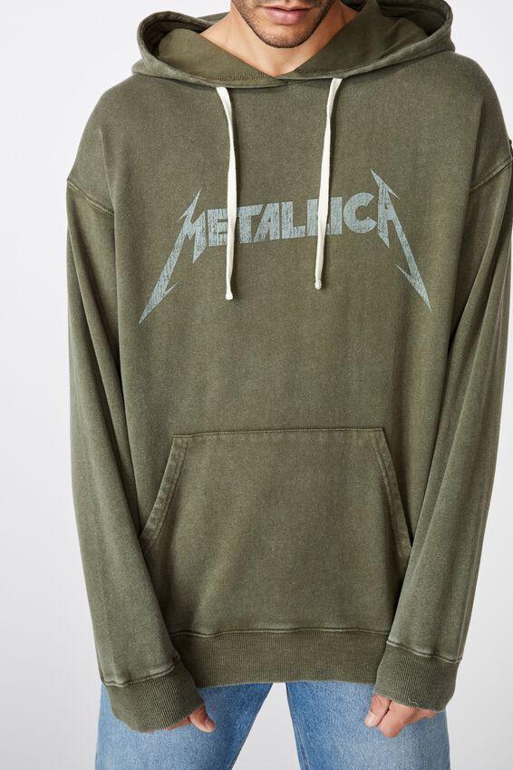 Premium Collab Fleece Pullover, LCN PRO WASHED KHAKI/METALLICA