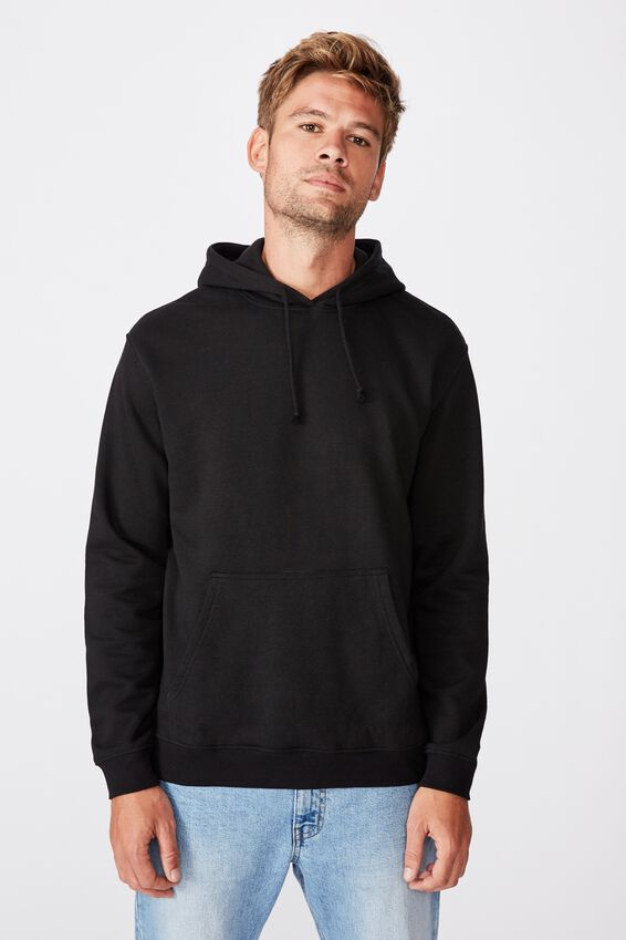 Essential Fleece Pullover, BLACK