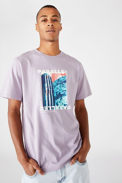 Tbar Art T-Shirt, HAPPY LAVANDER/PARALLEL