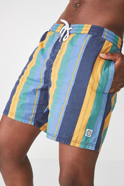 Hoff Short, NAVY/ GOLD / MULTI VERT STRIPE
