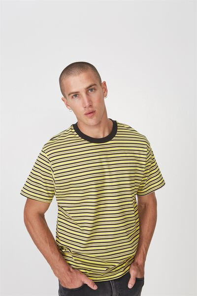 Dylan Tee, NEON YELLOW/VINTAGE STRIPE