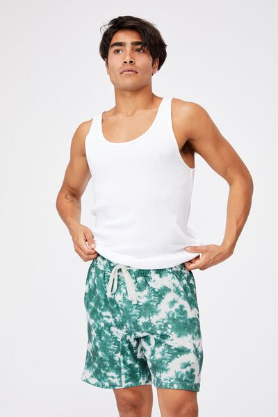 Lounge Short, GREEN TIE DYE