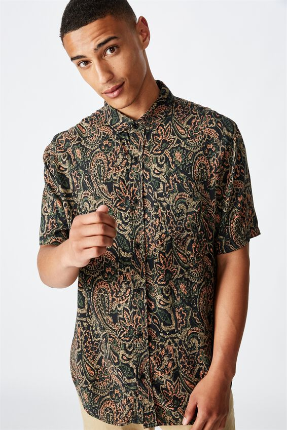 91 Short Sleeve Shirt, MULTI PAISLEY