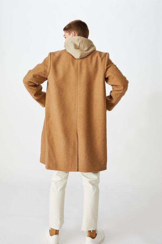 Trench Coat, TAN HERRINGBONE