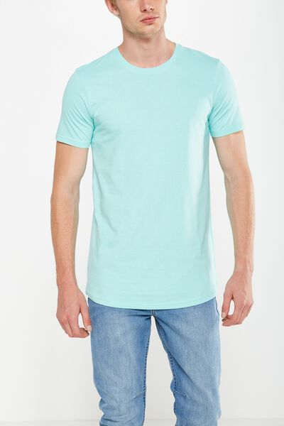 Essential Longline Curved Hem, ARUBA BLUE