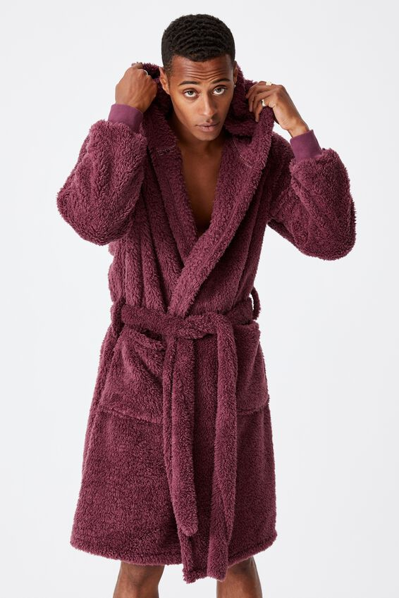 Mens Plush Gown, AGED WINE