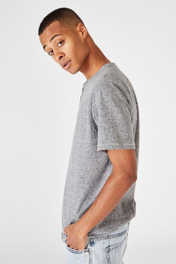 Slub Henley T-Shirt, MID GREY TWIST