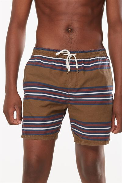 Kahuna Short, TAN/ SKATE STRIPE