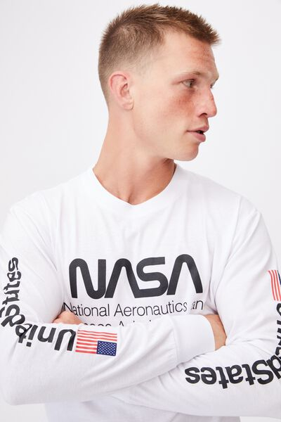 Tbar Collab Long Sleeve T-Shirt, LCN NAS WHITE/NASA-SPACE ADMINISTRATION
