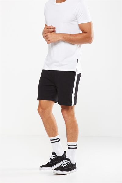 Volley Jogger Short, BLACK/WHITE STRIPE