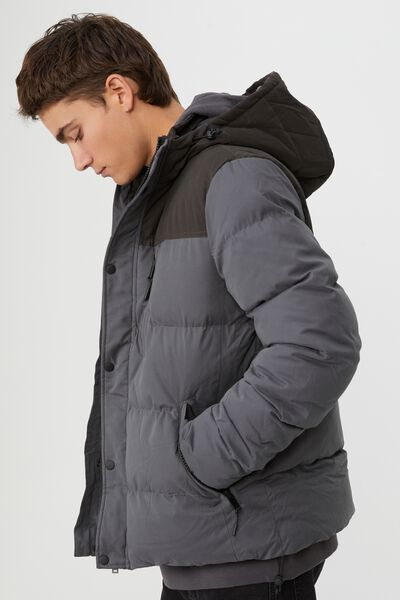 Elevated Puffer, CHARCOAL BLACK