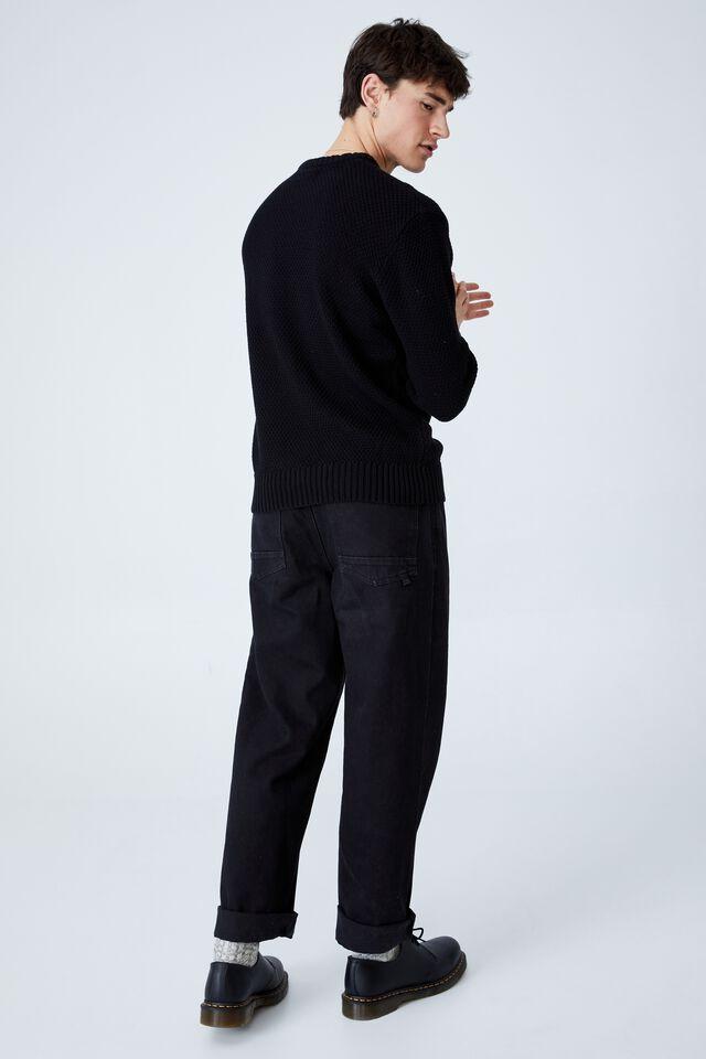 Crew Knit, BLACK TEXTURE