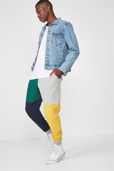 Trippy Slim Trackie, RUGBY COLOUR BLOCK