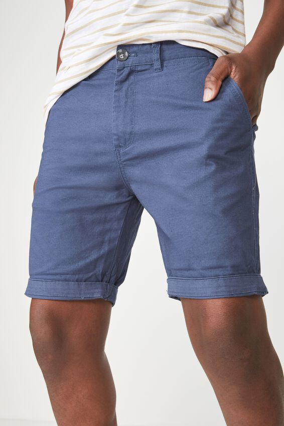 Washed Chino Short, AIRFORCE BLUE