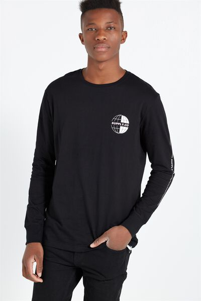 Tbar Long Sleeve, BLACK/TOKYO SUPPLY CO