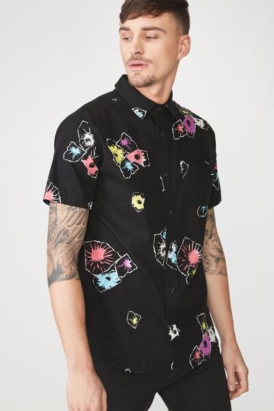 Vintage Prep Short Sleeve Shirt, TORN FLORAL