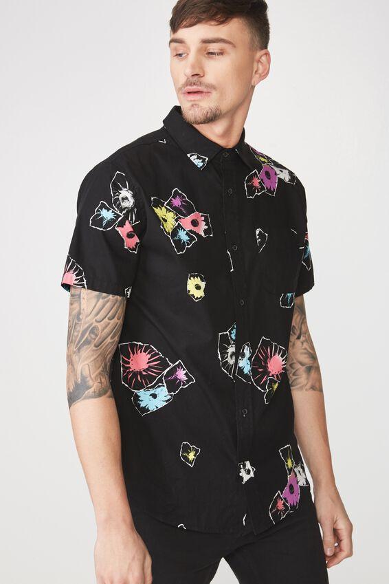 Vintage Prep Short Sleeve Shirt, TORN FLORAL