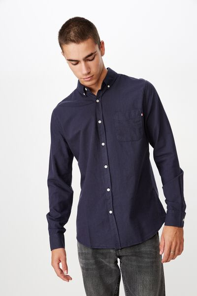 Brunswick Shirt 3, NAVY OXFORD