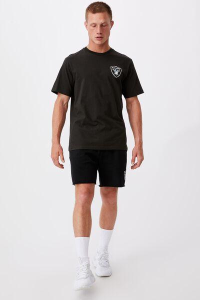 Active Nfl T-Shirt, LCN NFL WASHED BLACK RAIDERS SHIELD