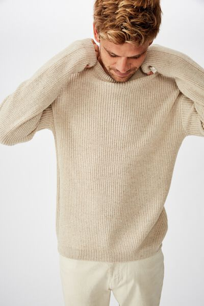 Nep Crew Knit, NATURAL NEP