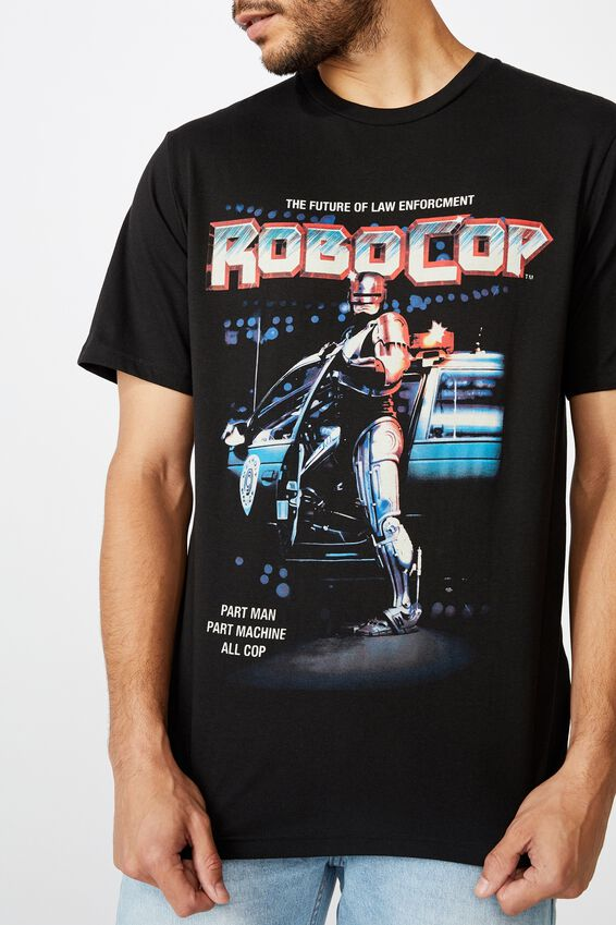 Tbar Collab Movie And Tv T-Shirt, LCN MGM BLACK/ROBOCOP - FUTURE