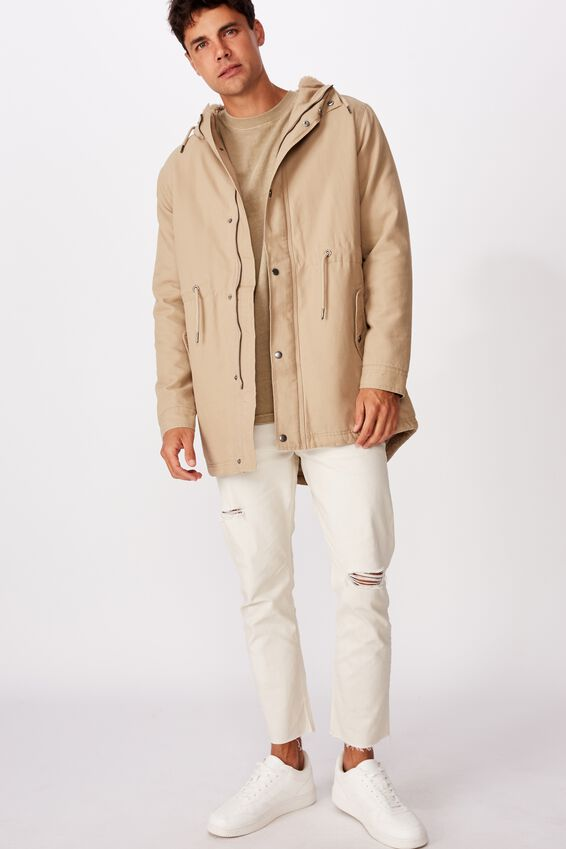 Hooded Parka, STONE
