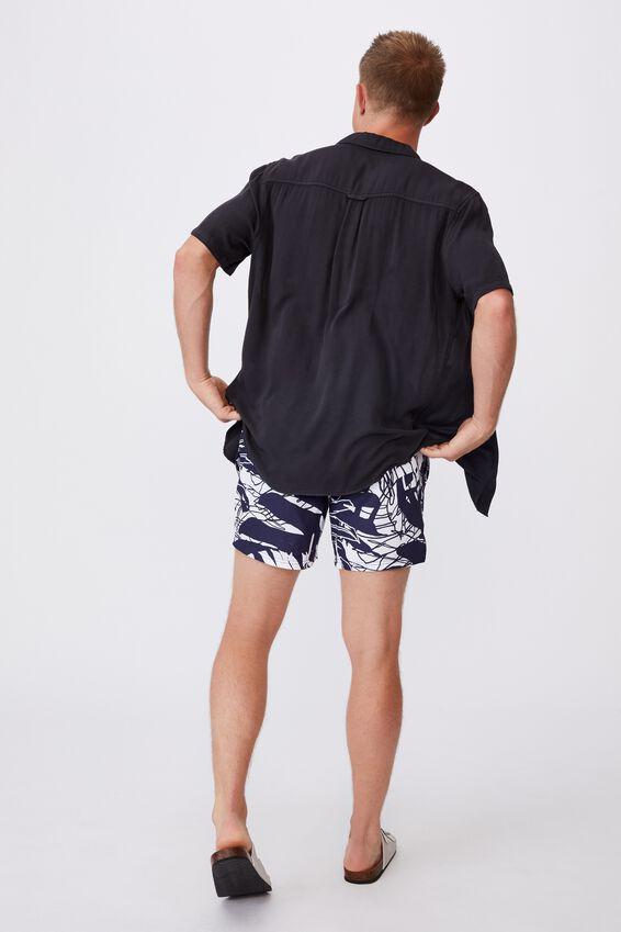 Swim Short, NAVY SPLICED FLORAL