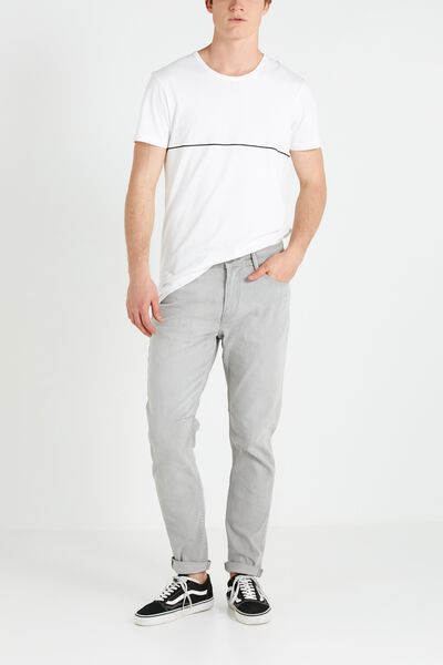 Tapered Leg Jean, FOG GREY