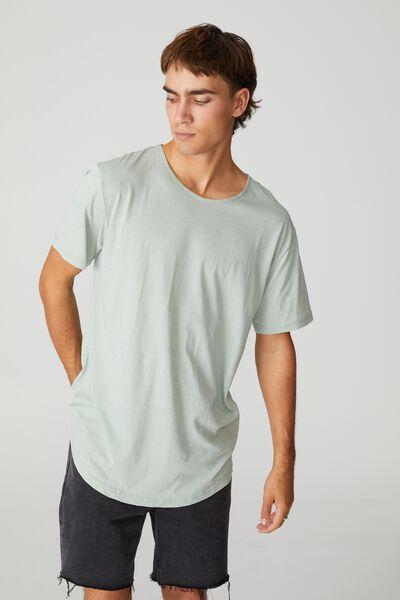 Longline Scoop Burnout T-Shirt, SEA FOAM