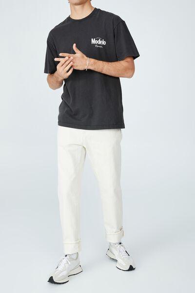 Modelo T-Shirt, LCN MOD WASHED BLACK/MODELO - CANS