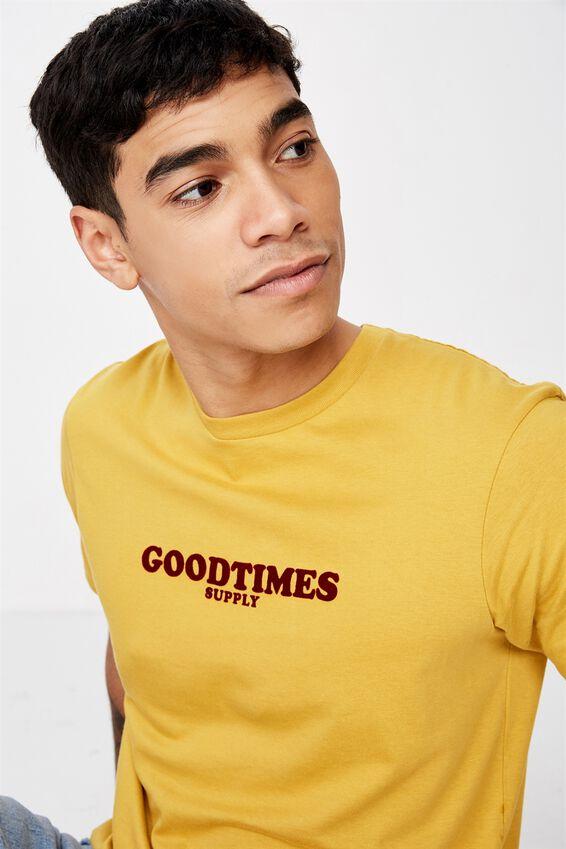 Tbar Art T-Shirt, NUGGET GOLD/GOODTIMES SUPPLY