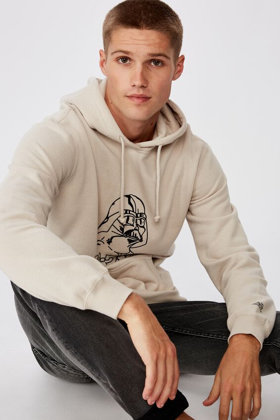 Collab Fleece Pullover, LCN DIS PEARL/DARTH VADAR