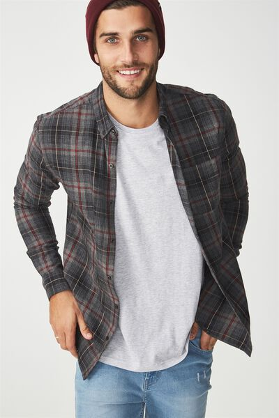 Brunswick Shirt 3, GREY BURG CHECK