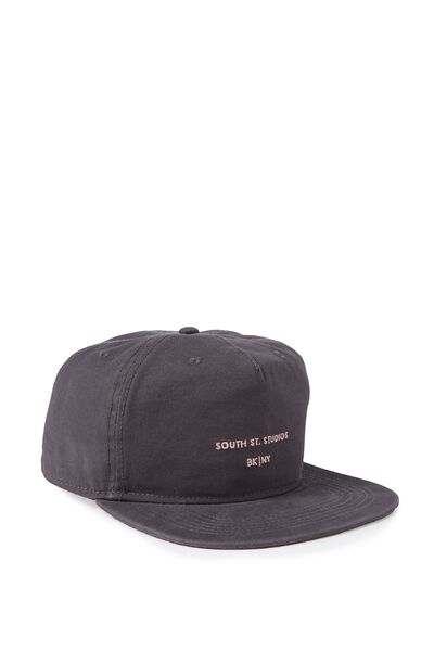 So-Cal Slouch Cap, SOUTH STREET/WASHED BLACK