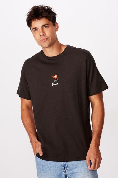Tbar Art T-Shirt, SK8 WASHED BLACK/NOIR ROSE