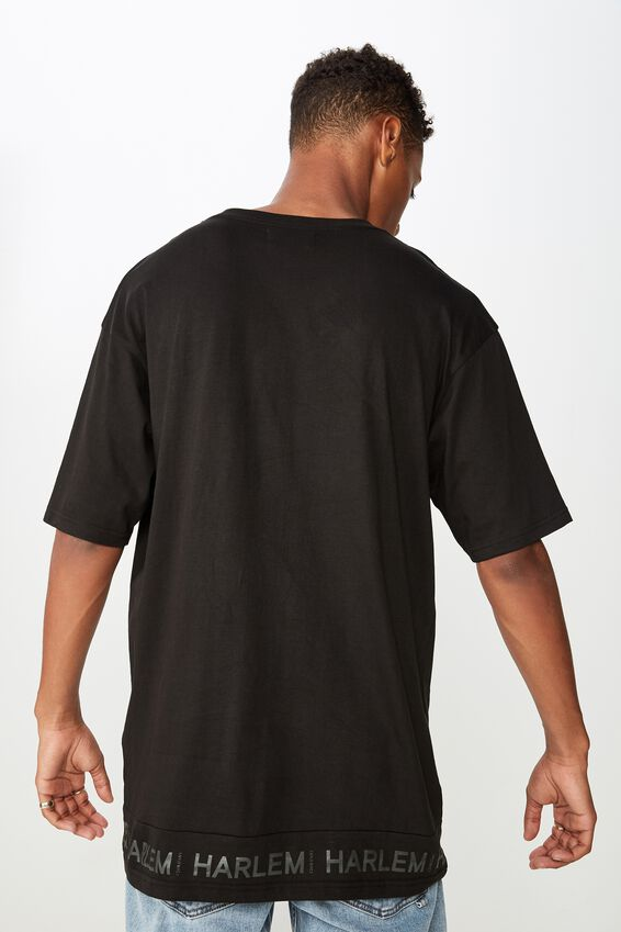 Drop Shoulder Longline, BLACK/(NY//NYC)