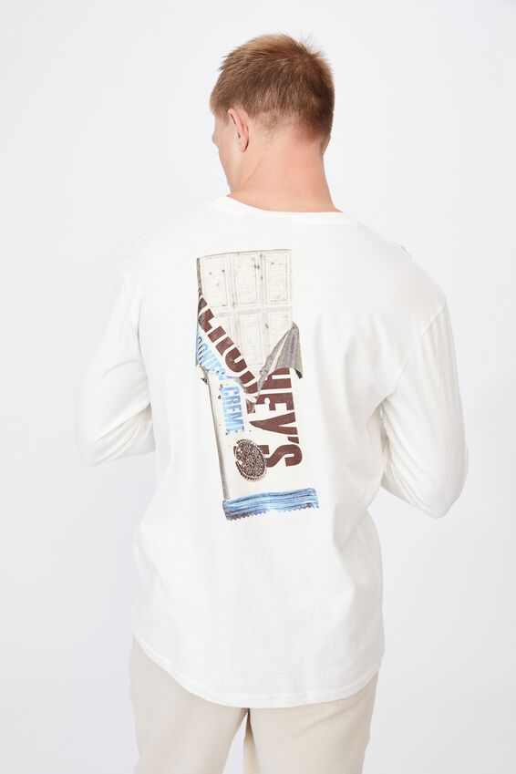 Tbar Collab Long Sleeve T-Shirt, LCN HER VINTAGE WHITE/HERSHEY S COOKIES AND C