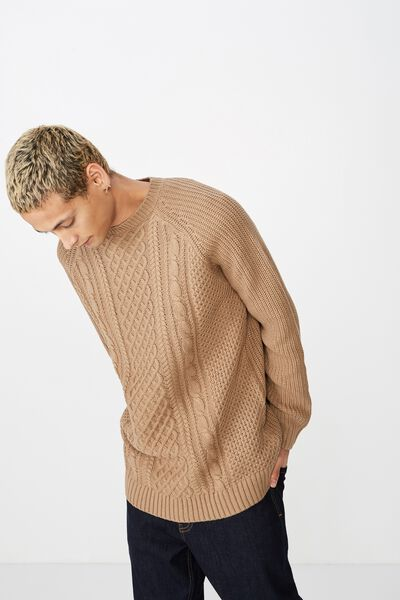 Cable Knit, CAMEL