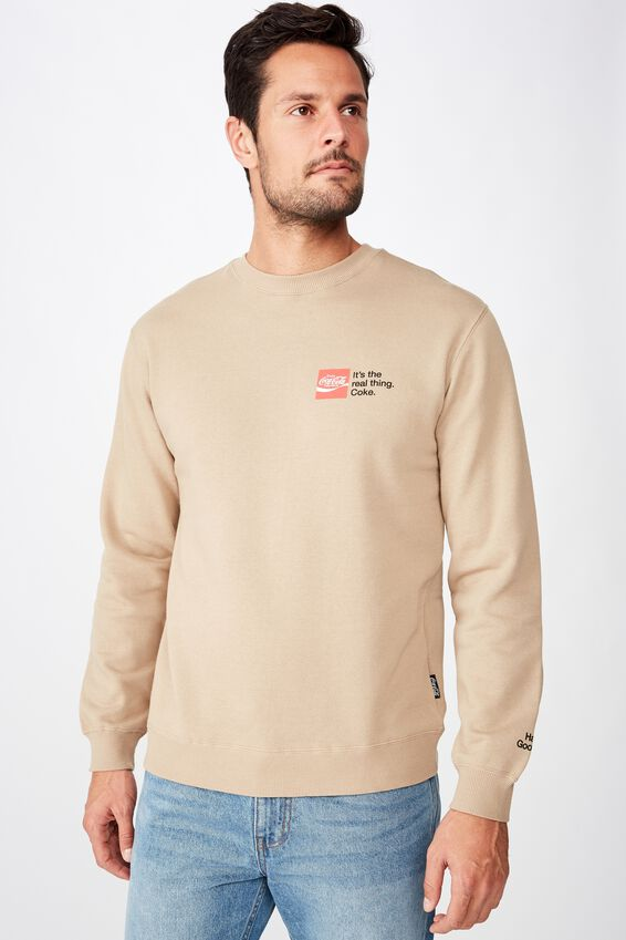 Collab Crew Fleece, LCN CC GRAVEL STONE/IT'S THE REAL THING