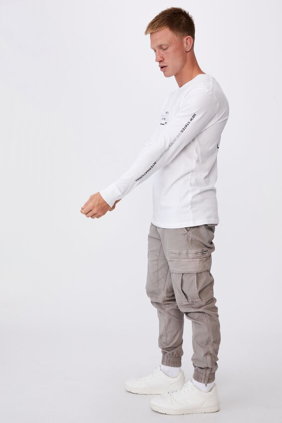 Tbar Long Sleeve T-Shirt, WHITE/NEW STATES